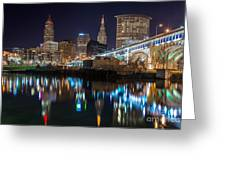Cleveland Settlers Landing Greeting Card