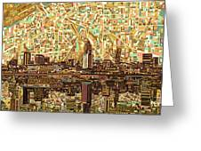 Cleveland Skyline Abstract 6 Greeting Card