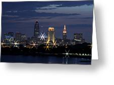 Cleveland Starbursts Greeting Card
