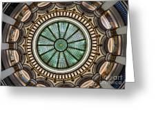 Cleveland Trust Rotunda Building Ceiling Greeting Card