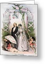 Clevelands Wedding, 1886 Greeting Card