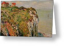 Cliff At Dieppe Greeting Card