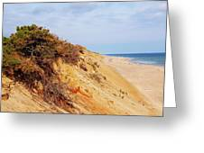 Cliff At Marconi Beach Greeting Card