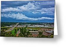 Cliff Avenue Storm Clouds Greeting Card