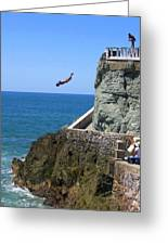 Cliff Divers Greeting Card