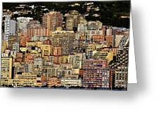 Cliff Dwellers Of Monte Carlo Greeting Card