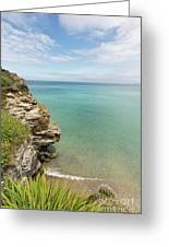 Cliff Edge At St Agnes Greeting Card