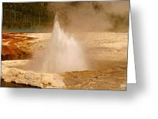 Cliff Geyser Greeting Card