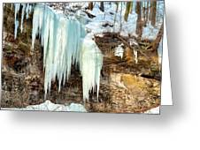 Cliff Ice Greeting Card