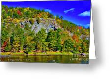 Cliff Of Color Greeting Card