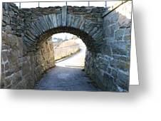 Cliff Walk Bridge Greeting Card