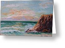 Cliffs And Waves Greeting Card