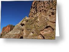 Cliffs At Bandelier Greeting Card