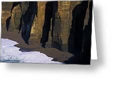 Cliffs At Blacklock Point Greeting Card