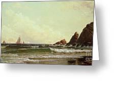 Cliffs At Cape Elizabeth Greeting Card by Alfred Thompson Bricher