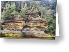 Cliffs At The Dells Greeting Card