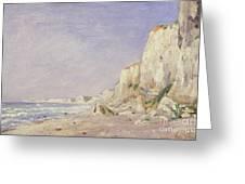 Cliffs Near Dieppe Greeting Card