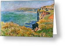 Cliffs Near Pourville Greeting Card