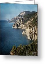 Cliffs Of Amalfi  Greeting Card