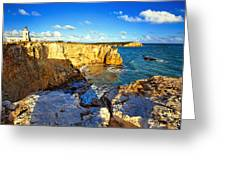 Cliffs Of Cabo Rojo At Sunset Greeting Card