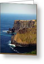 Cliffs Of Moher Ireland View Of Aill Na Searrach Greeting Card