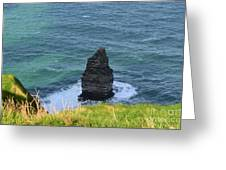 Cliff's Of Moher Needle Rock Formation In Ireland Greeting Card