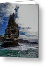 Cliffs Of Moher Stack Greeting Card
