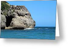 Cliffs On The Beach Dominican Republic  Greeting Card