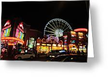 Clifton Hill At Night Greeting Card