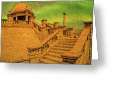 Clifton Monument At Jehangir Kothari Parade Greeting Card