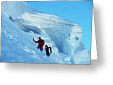 Climbers On Mont Blanc Greeting Card