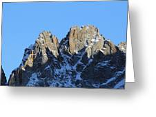 Climbers Sunlit Challenge Greeting Card