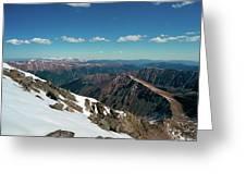 Climbing Greys Peak Greeting Card