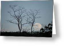Climbing Moon Greeting Card