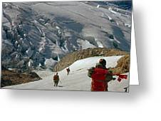 T-204805-climbing Party Mt. Rainier  Greeting Card