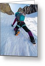 Climbing The North Coulior On Mcgown Peak Greeting Card