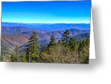 Clingmans Dome Panorama Greeting Card