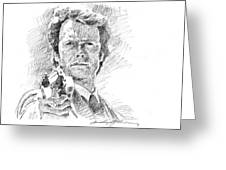Clint Eastwood As Callahan Greeting Card by David Lloyd Glover