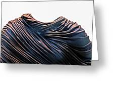 Cloaked Swirls Copper And Blues Abstract Tunic 2 8282017  Greeting Card