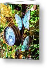 Clock And Butterflies R1 3580vt - Photo Art Greeting Card