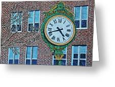 Clock At Port Warwick Greeting Card