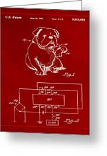 Clock For Keeping Animal Time Patent Drawing 1b Greeting Card