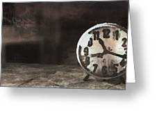 Clock - Id 16218-130649-1306 Greeting Card
