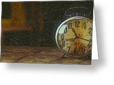 Clock - Id 16218-130715-1843 Greeting Card