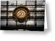 Clock Musee D'orsay Greeting Card
