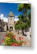 Half-timbered Houses, Alsace, France  Greeting Card
