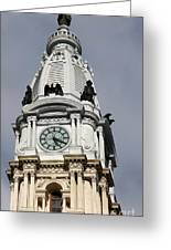 Clock Tower City Hall - Philadelphia Greeting Card