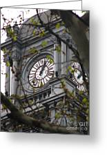 Clock Tower In Buenos Aires Greeting Card