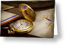 Clockmaker - Time Never Waits  Greeting Card