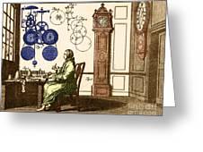 Clockmaker Greeting Card